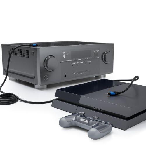 deleyCON 7,5m Toslink Kabel Optisches Digital Audio Kabel LWL SPDIF