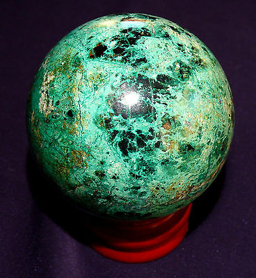434,8g Diameter Contemplative Polished Ball Malachite-azurite Altai Healing Stone
