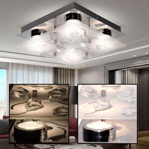 Led Plafond Cristal Luminaire Chambre à Coucher Chrome Verre D ...