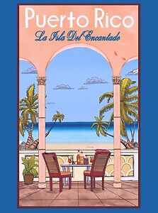 United States Caribbean Puerto Rico America Travel Advertisement Art Poster