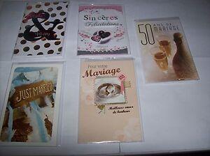 Section SpéCiale Lot De 5 Cartes Mariage Avec Enveloppe Neuf Sous Blister Emballage De Marque NomméE