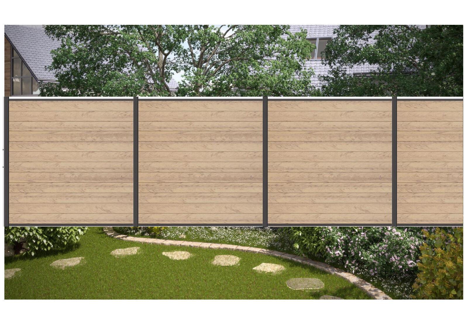Komplettset Wpc Sichtschutz Zaun Sand Zaunlangen Von 9 M 25 M Ebay