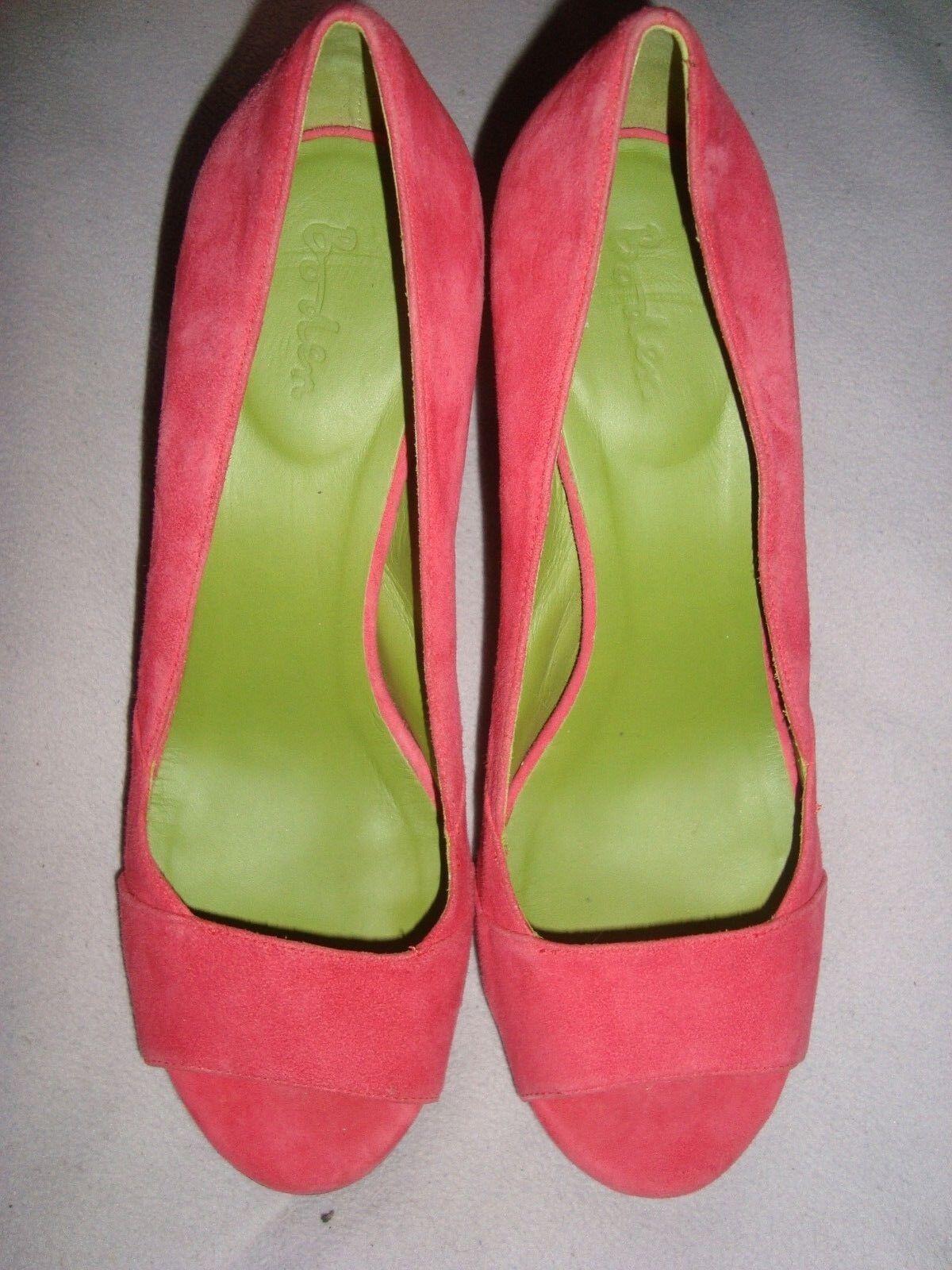Boden UK 7.5 EU 41 41 41 rosadodo fucsia gamuza Peep Toes Zapatos Rrp  bienvenido a orden
