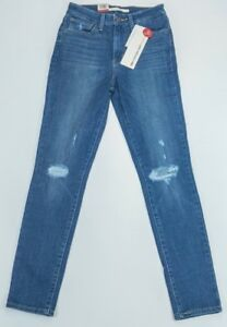 Ripped Rise High Blue Ankle Ladies 721 Jeans Levi's Skinny gPxA00