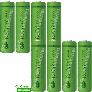Image Is Loading 8 X Gp Recyko Aa 2600 Mah Rechargeable