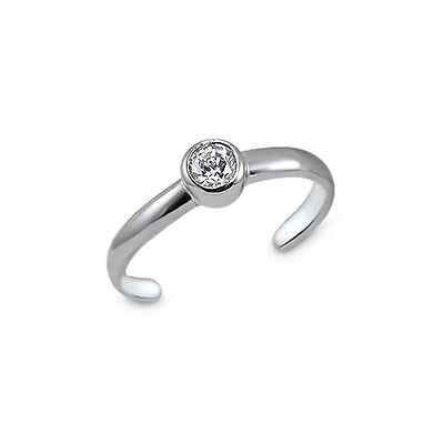 Round Celtic Trinity Knot Work Triquetra Midi Toe Ring Polished 925 Silver Sterling Adjustable