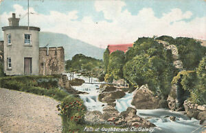 Lovely Rare Vintage Postcard - Falls at Oughterard Co. Galway Ireland (1907).