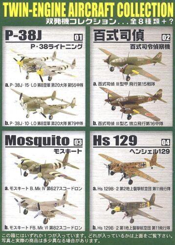 Full Set of 8 F-toys 1//144 TWIN-ENGINE Vol.1 WW2 Aircraft not secret item