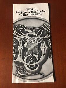 John Official Belt Buckle Collector Guide 1983