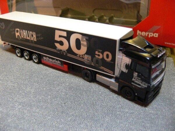 1 87 HERPA MAN tgx xlx euro 6 Kühlkoffer-sz 50 ans transporteur röhlich 305389