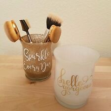 Makeup Brush Holders storage cosmetic Glitter Gold Glam Sparkle Gorgeous cup