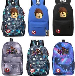 8c29a63659b0 Image is loading Roblox-Backpack-Kids-School-Bag-Students-Boys-Bookbag-