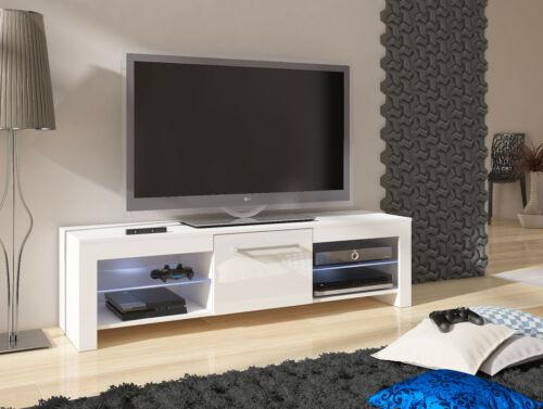 TV Stand FLEX 160 Modern Cabinet Highboard Table Matt /& High Gloss LED Lighting