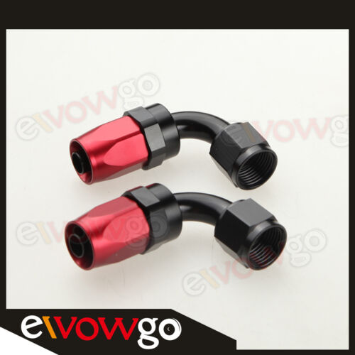 AN10-10AN NYLON BRAIDED OIL//FUEL Hose Fitting Hose End Adaptor Red And Black