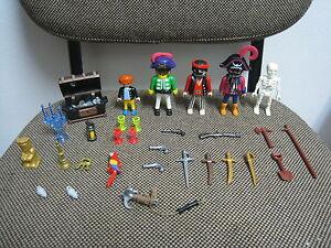 Playmobil-Piratas-Tripulacion-Nino-Esqueleto-Cofre-Oro-3939-COMPLETO