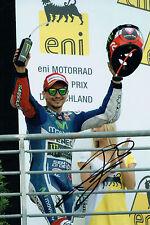 Jorge LORENZO SIGNED YAMAHA MOTOGP 12x8 Podium Photo AFTAL COA Autograph