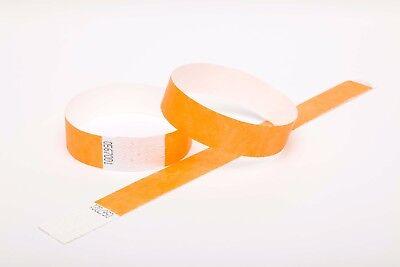 "Nice 500 Plain Neon Orange 3/4"" Tyvek Paper Wristbands For Events,festivals,parties Party Supplies Party Decorations"