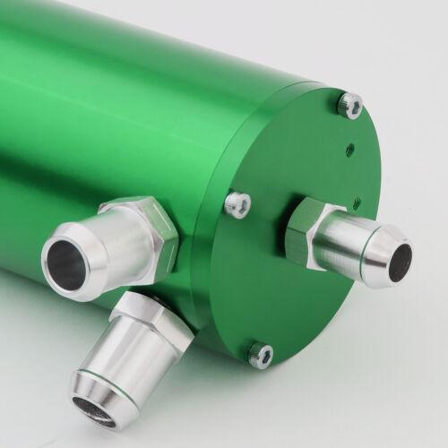 "GREEN 4.1/""X2.4/"" T6061 ALUMINUM OIL CATCH TANK//CAN+AIR FILTER FIT 1//2/""/&5//8/"" HOSE"