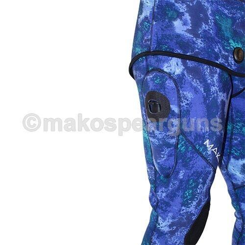 Spearfishing Wetsuit Ocean Blue Camo 3mm Yamamoto 2-piece MAKO Spearguns