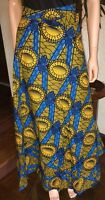 Lady Mia;'s Of Africa Women's African Wrap Skirt Long Cotton Wax Block