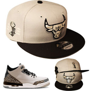 d1facf6d334 New Era Chicago Bulls Snapback Hat Match Air Jordan Retro 3 Wolf ...