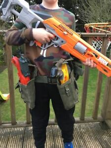 Image is loading Kids-Army-Nerf-gun-holster-kit-party-Xmas-