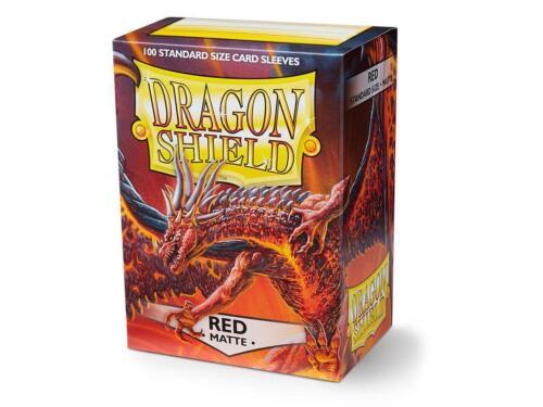 Dragon Shield Standard Size Card matte Sleeves Red Magic Pokemon 100ct box