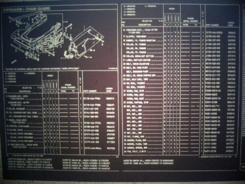 Honda XR200 1980 1981 1982 1983 1984 Parts List Catalog  Microfiche a793