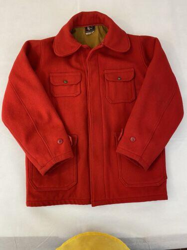 Red Woolrich Woolen Mills Men Size 40 Vintage Hunt