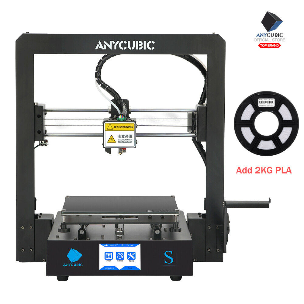 "US Stock Anycubic i3 Mega-S 3D Printer Resume Print 3.5"" TFT + 1KG PLA Filament 1kg Anycubic filament pla print printer resume stock tft"