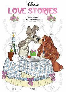 Disney Love Stories 60 Coloriages Anti Stress 9782012904262 Ebay