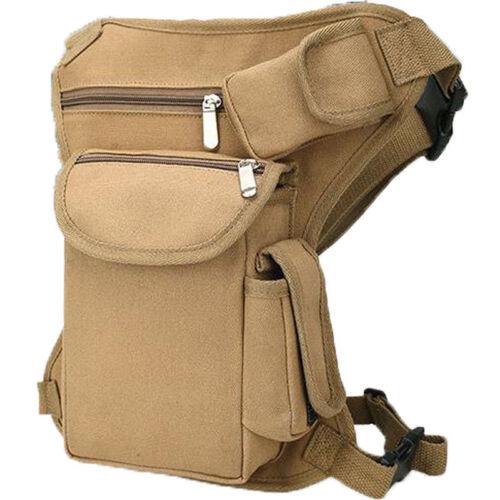 US Stock Men Outdoor Canvas Tactical Riding Fanny Pack Waist Thigh Drop Leg Bag