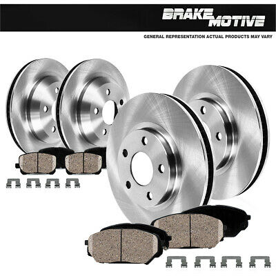 For Ford Explorer Flex Taurus Lincoln MKS MKT Front And Rear Brake Disc Rotors