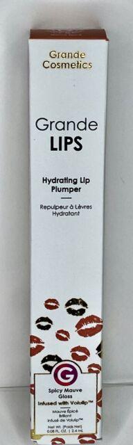 GrandeLips Hydrating Lip Plumper Liquid Lipstick Gloss - Spicy Mauve New in Box