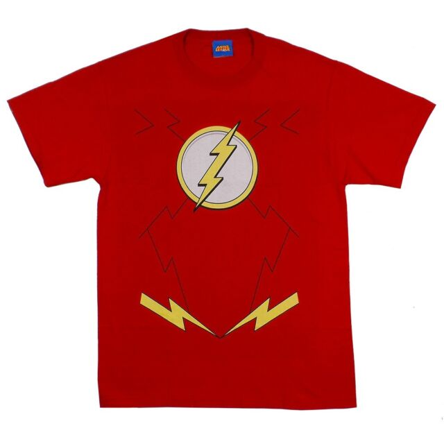 Flash Symbol Costume DC Comics The New 52 Licensed Adult Shirt S-3XL