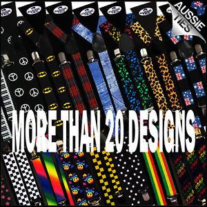 SUSPENDERS Designs Adjustable mens rockabilly retro CHOOSE STYLE 30 BRACES