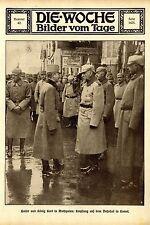 Kaiser und König Karl I. in Wolhynien * Empfang auf dem Bahnhof in Kowel 1917