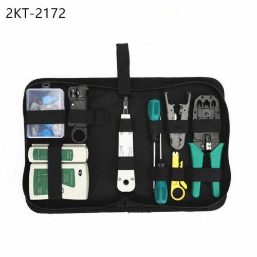 Network Cable Clamp Stripping Crimping pliers+Professional Network Cable Tester
