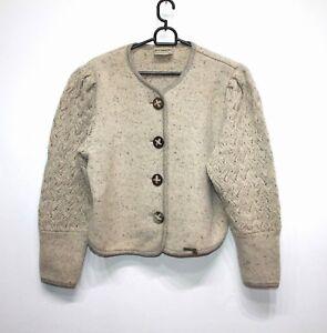 Stapf Chunky Damen Jacket Wool 8 Cardigan 6 Uk Beige Women's 38 Eu Silk Austria rqpYr