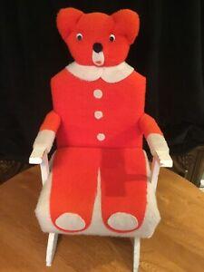 RARE!!! Vintage Bubba Bear Childrens Teddy Bear Rocking Chair