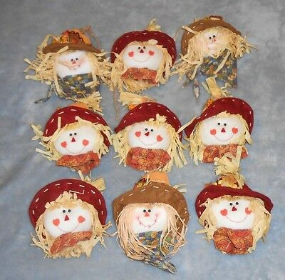 Home Arts & Crafts Learned Lot Of 9 Scarecrow W/hat Craft Heads Other Home Arts & Crafts