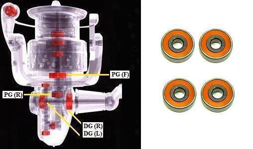 Shimano Keramik Super Tune Stradic CI4+2500HGS 2500S C2500HGS C2500S (15-16)