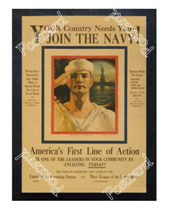 Historic-WWI-Recrutiment-Poster-join-the-Navy-Postcard