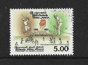 SRI-LANKA-1992-160th-ANNIVERSARY-of-CRICKET-1v-USED-CTO