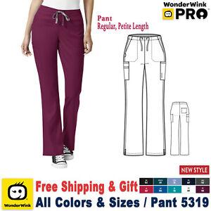 Avoir Un Esprit De Recherche Wonderwink Scrubs Pro Femmes Moderé Évasé Jambe Pantalon 5319 Standard/petite