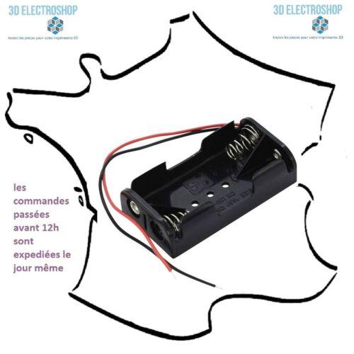 Boitier pour 2 batterie box 3 ou 4 piles LR6 AA 3, 4,5 ou 6 volts