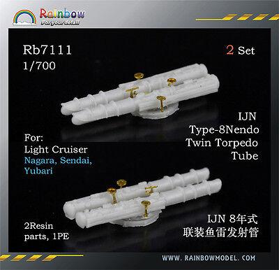 Rainbow 1//700 Rb7117 IJN Type-92 Model4 Quadruple Torpedo Tube