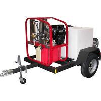 Hot2go Professional 3000 Psi (gas - Hot Water) Pressure Washer Trailer W/ Van...