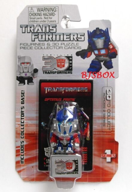 Optimus Prime #11 Series 1 Transformers Figurine & 3D Puzzle Collector Cards New