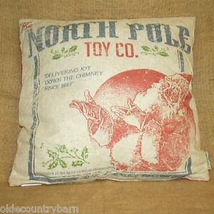 North-Pole-Toy-Co-Santa-2-Sided-Throw-Pillow-Christmas-Primitives-by-Kathy